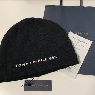 トミーヒルフィガー(TOMMY HILFIGER)の新品 トミーヒルフィガー ニット帽 ブラック TOMMY HILFIGER(ニット帽/ビーニー)