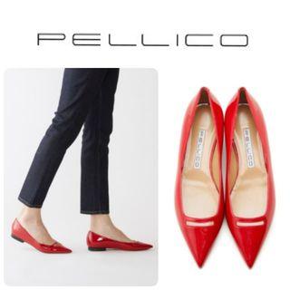 PELLICO - 20SS 新品 ペリーコ 新木型ANIMA アネッリ フラット パンプス 37