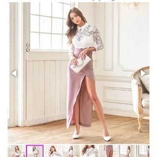 襟付き ロングドレス(ロングドレス)