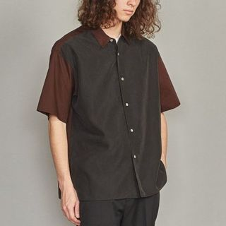 ビューティアンドユースユナイテッドアローズ(BEAUTY&YOUTH UNITED ARROWS)の19SS BEAUTY & YOUTH コンビファブリックワイドフォルムシャツ (Tシャツ/カットソー(半袖/袖なし))