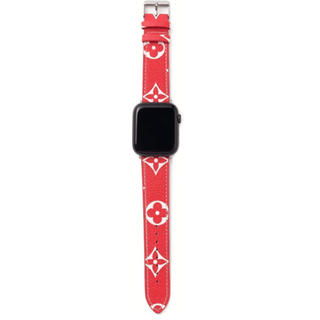 アップルウォッチ(Apple Watch)のApple Watchバンド 新品未使用アップルウォッチダミエ柄 交換用ベルト(ラバーベルト)