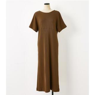 ブラックバイマウジー(BLACK by moussy)のBLACK BY MOUSSY back v tuck dress(ロングワンピース/マキシワンピース)