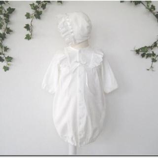 新生児赤ちゃん退院ベビードレス&帽子&おくるみ3点セット/ベビー服/ロンパース
