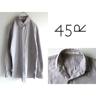 フォーティーファイブアールピーエム(45rpm)の美品 45rpm オックスフォードシャツ 3 ゆったり 大きいサイズ(シャツ/ブラウス(長袖/七分))