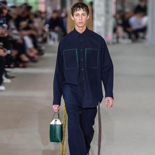 ジルサンダー(Jil Sander)のジルサンダー セットアップ 紺 パッチオーバーサイズシャツ(シャツ)