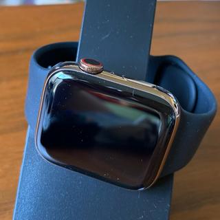 アップルウォッチ(Apple Watch)のアップルウォッチ4(GoldStaitnless 44mm LTE model)(腕時計(デジタル))
