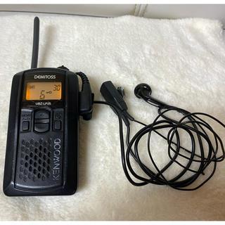 ケンウッド(KENWOOD)のKENWOOD ケンウッド 特定小電力トランシーバー UBZ-LP20 ブラック(アマチュア無線)