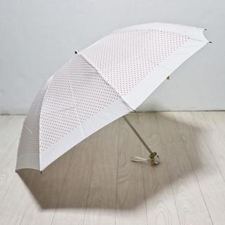 アンテプリマ(ANTEPRIMA)の新品【アンテプリマ】フィオーリドット柄 折りたたみ傘 チャーム付き 日傘雨傘(傘)