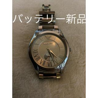 エンポリオアルマーニ(Emporio Armani)のEMPORIO ARMANI エンポリオアルマーニ 腕時計 メンズ シルバー(腕時計(デジタル))