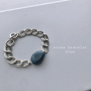 アメリヴィンテージ(Ameri VINTAGE)の再入荷 stone bracelet blue(ブレスレット/バングル)