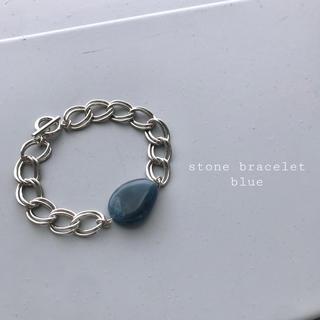 Ameri VINTAGE - 再入荷 stone bracelet blue