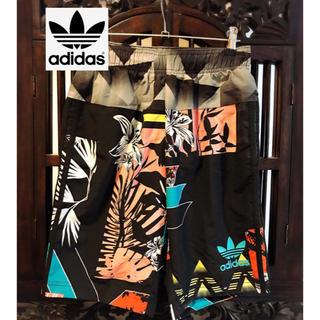 アディダス(adidas)のアディダス 和柄 花柄 水着 パンツ 2way SM ジャージ ハーフパンツ(水着)