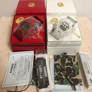 アベイシングエイプ(A BATHING APE)のG-SHOCK DW-6900 A BATHING APE(腕時計(デジタル))