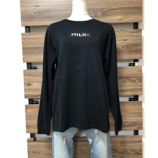 ミルクフェド(MILKFED.)のMILKFED ミルクフェド 刺繍 ボックスロゴ(Tシャツ(長袖/七分))