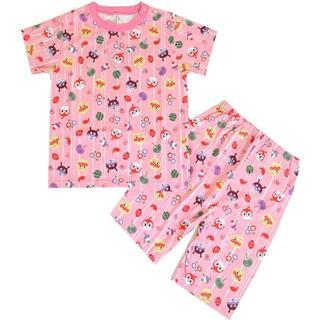 アンパンマン(アンパンマン)のお値下げ中! 90cm アンパンマン 和風総柄半袖パジャマ ピンク(パジャマ)
