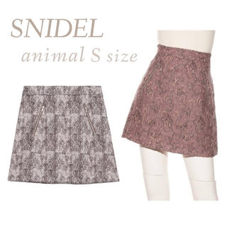 snidel - 新品 ジャガードスクエアミニスカート SNIDEL スナイデル