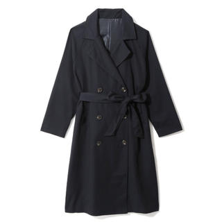 GRL - GRL ツイルラグランロングトレンチコート ネイビー 新作 韓国ファッション
