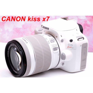 キヤノン(Canon)の❤スマホに送れる❤Canon kiss X7 ホワイト(デジタル一眼)