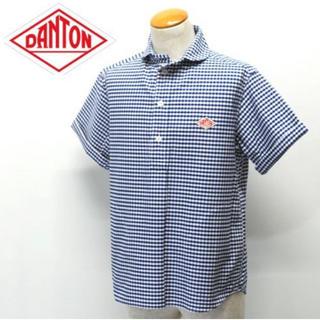 DANTON - ダントン 半袖丸襟プルオーバーシャツ