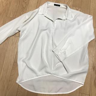ギャルスター(GALSTAR)のリエディ とろみシャツ ホワイト M(シャツ/ブラウス(長袖/七分))