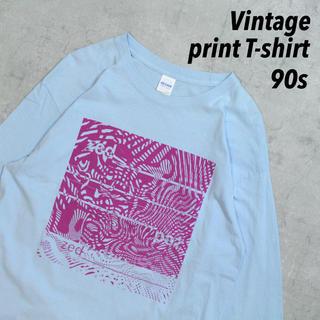 ギルタン(GILDAN)の90s GILDAN ニカラグア製 vintage プリントT オーバーサイズ(Tシャツ/カットソー(七分/長袖))