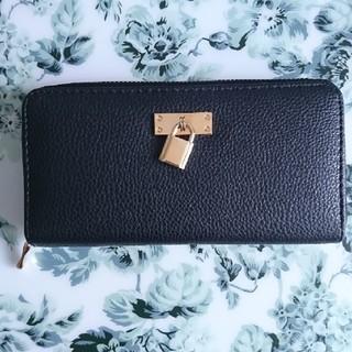 シマムラ(しまむら)の長財布  ブラック&ゴールド金具(財布)