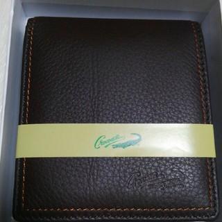 クロコダイル(Crocodile)のゆうちんまる様専用   牛革折財布 Crocodile メンズ ブラウン(折り財布)