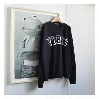 イズネス(is-ness)のis ness john ロングスリーブ tシャツ ブラック(Tシャツ/カットソー(七分/長袖))