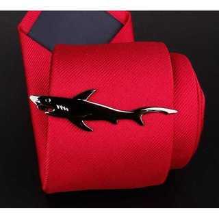 【シャーク タイピン 】シルバー タイピン ネクタイ カフスボタン カフス サメ(ネクタイピン)