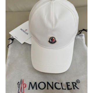 モンクレール(MONCLER)のMONCLER モンクレール ホワイト ベースボールキャップ 帽子(キャップ)