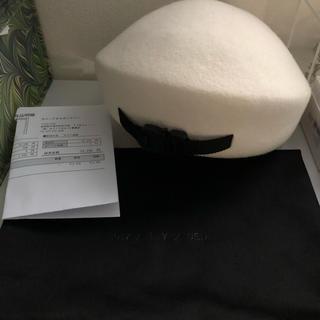 ラフシモンズ(RAF SIMONS)の破格 Alyx ベレー帽 白(ハンチング/ベレー帽)