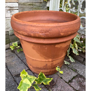 イタリア製 SILMA ヴィンテージ テラコッタ 植木鉢 34⌀ 素焼き陶器鉢(プランター)