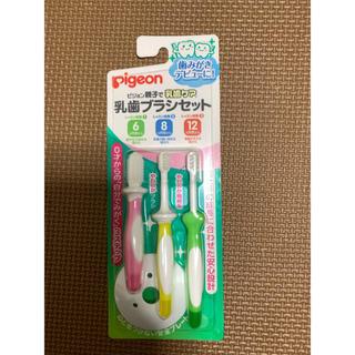 ピジョン(Pigeon)のPigeon 親子で乳歯ケア 乳歯ブラシセット(歯ブラシ/歯みがき用品)