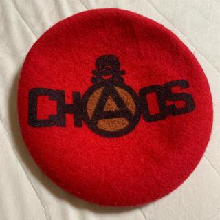 ヴィヴィアンウエストウッド(Vivienne Westwood)のCHAOS ベレー帽 赤(ハンチング/ベレー帽)