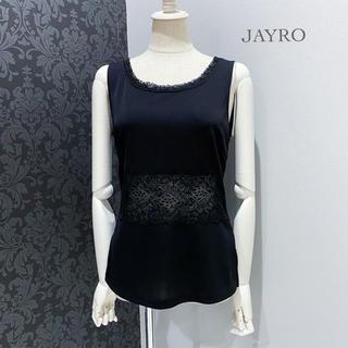 ジャイロ(JAYRO)のJAYRO ◆ 日本製 ブラック レース ノースリーブ カットソー トップス(カットソー(半袖/袖なし))