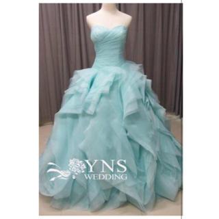 ティファニーブルー カラードレス  vera wang ダイアナ風(ウェディングドレス)