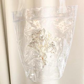 かすみ草の花束クリアバッグ(ドライフラワー)
