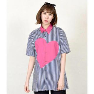 ミルクボーイ(MILKBOY)のMILKBOY  ミルクボーイ   heart シャツ チェリーピンク (シャツ)
