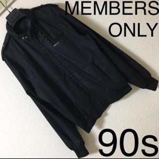90s◆MEMBERS ONLY メンバーズオンリー◆ライダース ジャケット S(ライダースジャケット)