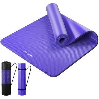 ヨガマット トレーニングマット エクササイズマット 紫(ヨガ)