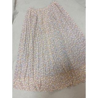 オリーブデオリーブ(OLIVEdesOLIVE)の【一度着用美品】OLIVE des OLIVE 花柄シフォンプリーツスカート(ロングスカート)