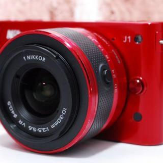 ニコン(Nikon)の★Wi-Fi★超人気★ニコン Nikon 1 J1 レッド(ミラーレス一眼)