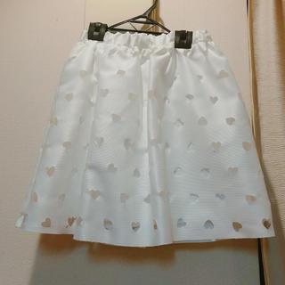アイズビット(ISBIT)のisbit♡ハートくり抜きスカート(ミニスカート)