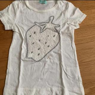 ハッカキッズ(hakka kids)のTシャツ ハッカキッズ 100cm  いちご  レース(Tシャツ/カットソー)