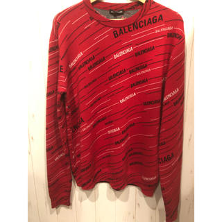 バレンシアガ(Balenciaga)のBALENCIAGA バレンシアガ ニット新品 ロゴ セーター 赤 レッド(ニット/セーター)