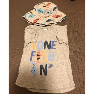 エイチアンドエム(H&M)の海の生き物 魚 Tシャツ ハット付き(Tシャツ/カットソー)