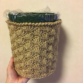 麻カゴ 鉢カバー ダストボックスカバー ナチュラル雑貨 カントリー雑貨(バスケット/かご)
