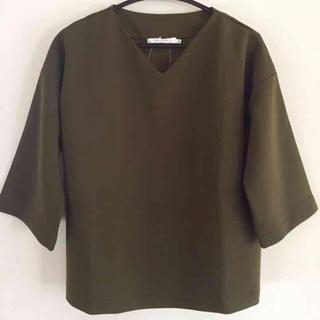 サマンサモスモス(SM2)の新品タグ付き カーキプルオーバー(Tシャツ(長袖/七分))