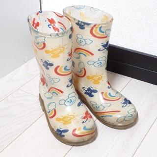 ディズニー(Disney)のディズニーリゾート購入  ミッキーレインボー長靴 レインブーツ 17cm(長靴/レインシューズ)