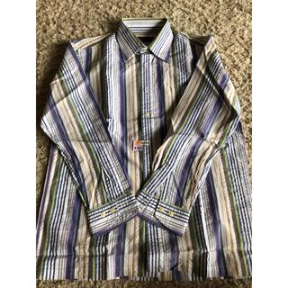 アラミス(Aramis)のARAMIS メンズシャツ Mサイズ 長袖シワ加工 綿100%(シャツ)